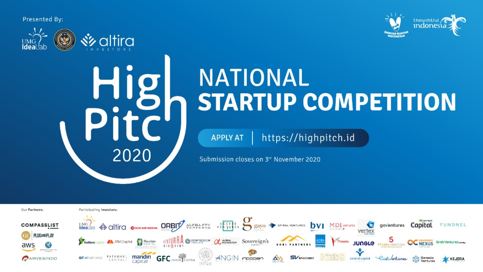 Indonesia launches national pitch competition HighPitch 2020 to re-energize its startup ecosystem