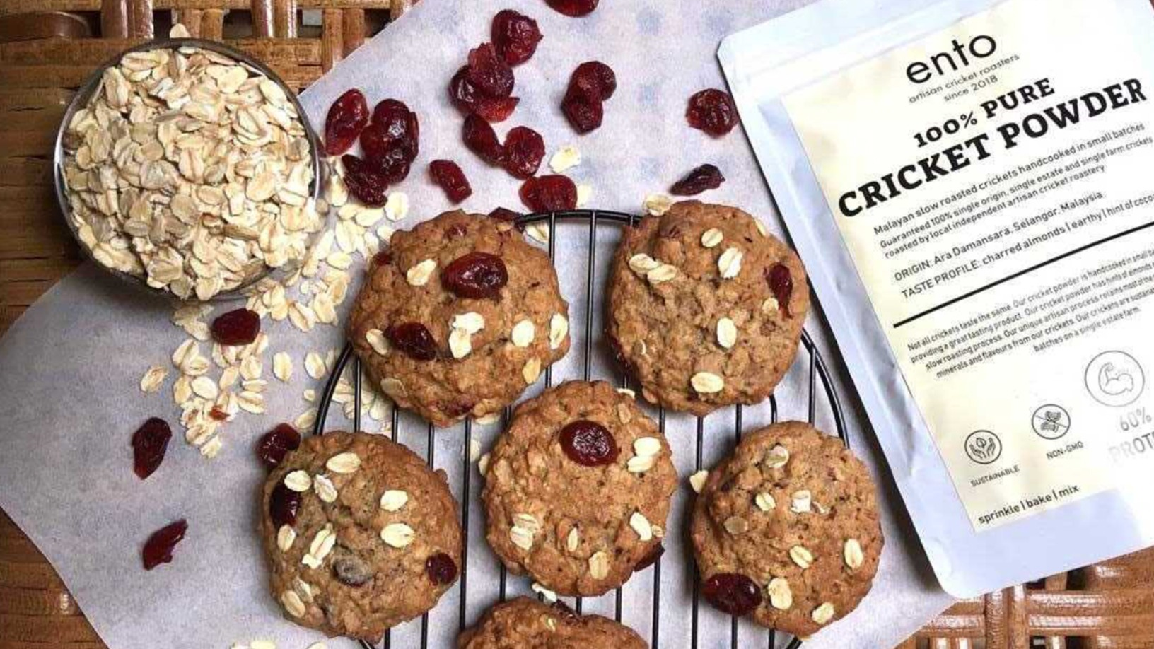 Ento: Making cookies and burger patties from crickets